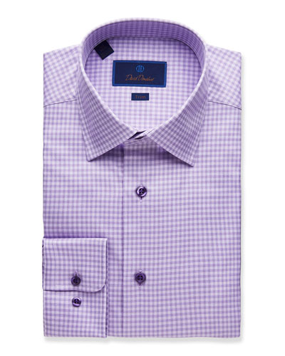 Men's Trim-Fit Gingham Dress Shirt