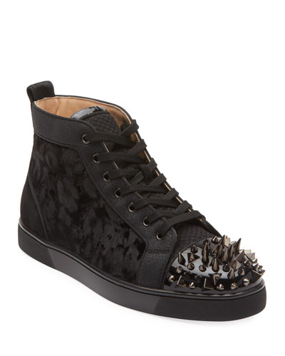 Men's Lou Pik Pik Orlato High-Top Spiked Sneakers