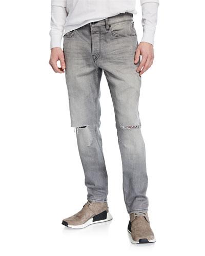 Men's Sartor Rip-Knee Skinny Jeans