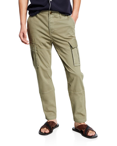 Men's Skinny Twill Cargo Pants