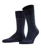 Falke Men's Jabot Dot-Pattern Socks