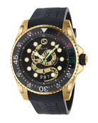 Gucci Men's Dive King Snake Gold PVD Watch