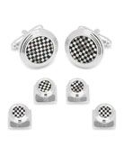 Cufflinks Inc. Checkered Onyx & Mother-of-Pearl Cuff Links