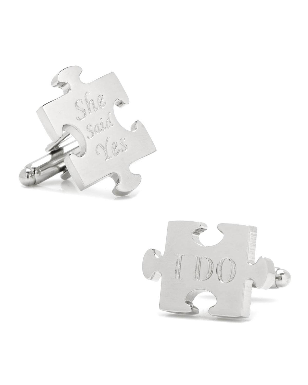 Wedding Puzzle Piece Cufflinks