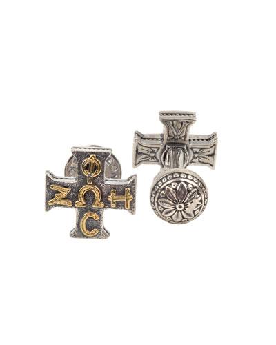 Men's Sterling Silver Cross Cufflinks