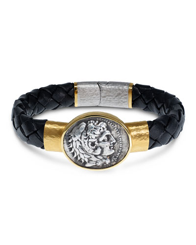 61ca95c7b6b9 Quick Look. Jorge Adeler · Men s Ancient Coin Braided Leather Bracelet