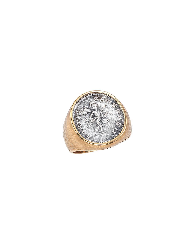 Men's Mars Ancient Coin 18K Gold Ring