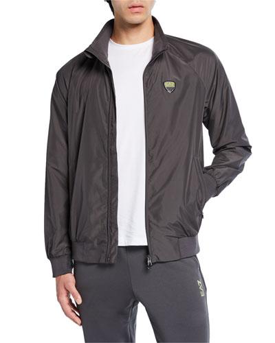 Men's Green Club Zip-Front Jacket