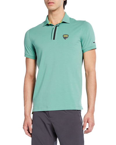 Men's Green Club Polo Shirt