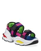 Dsquared2 Men's Chunky Colorblock Platform Sandals