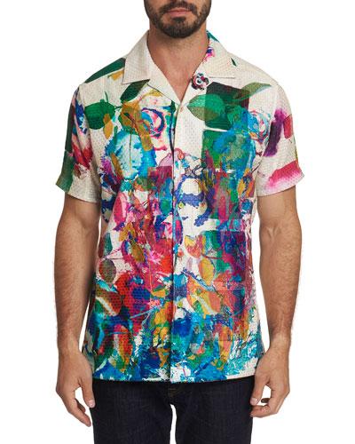 Men's Flower Fight Short-Sleeve Shirt