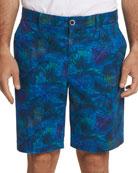 Robert Graham Men's Baruch Palm Leaf-Print Shorts
