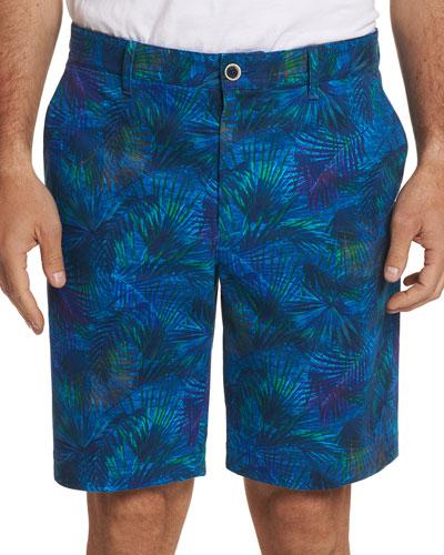 Men's Baruch Palm Leaf-Print Shorts