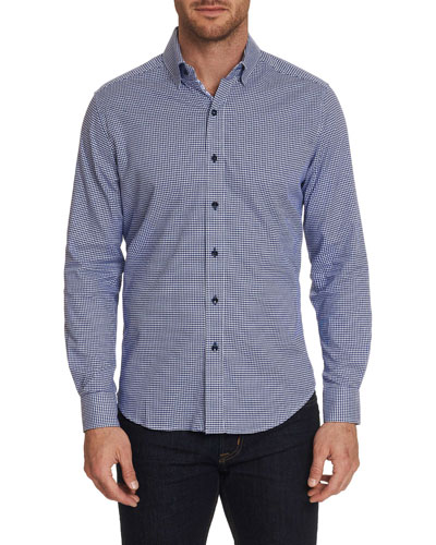 Men's Alabaster Graphic Check Sport Shirt