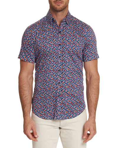 Men's Roark Graphic Short-Sleeve Sport Shirt