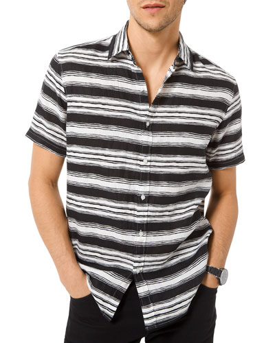 44c482c8 Quick Look. Michael Kors · Men's Fane Striped Button-Down Shirt
