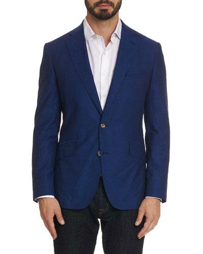 Men's Renon Cotton Two-Button Jacket