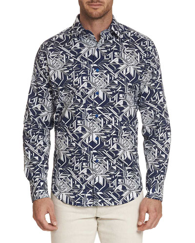 Men's Wyland Geometric Sport Shirt