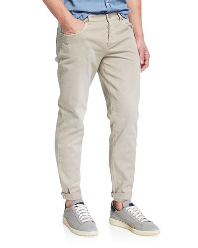 Men's Straight-Leg Dyed Denim Jeans