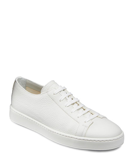 Santoni Men's Clean Iconic Leather Low-Top Sneakers