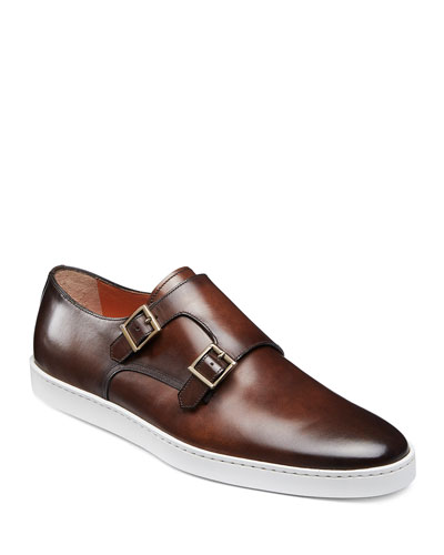 Men's Freemont Double-Monk Leather Sneakers