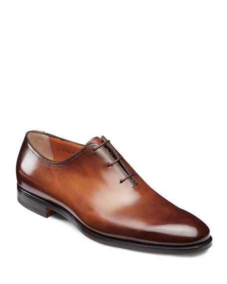 Santoni Men's Laurence One-Piece Leather Dress Shoes