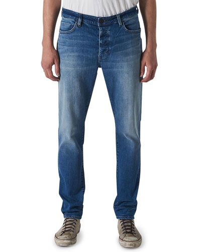 Men's Ray Tapered Mid-Wash Jeans, Tokyo