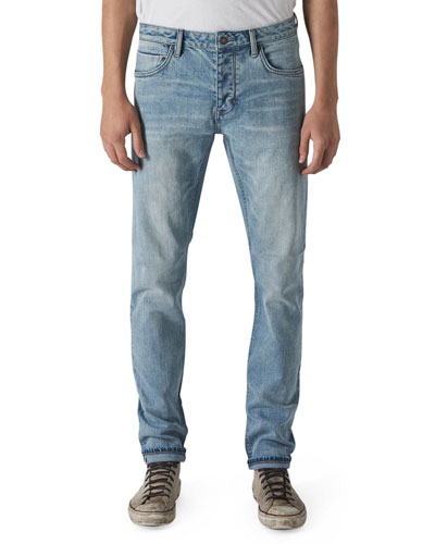 Men's Iggy Skinny Light-Wash Jeans, Zero Selvedge