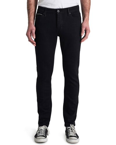 Men's Iggy Skinny Dark-Wash Jeans, Black Selvedge