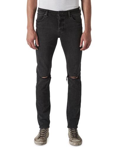 Men's Iggy Skinny Dark-Wash Jeans, Reid