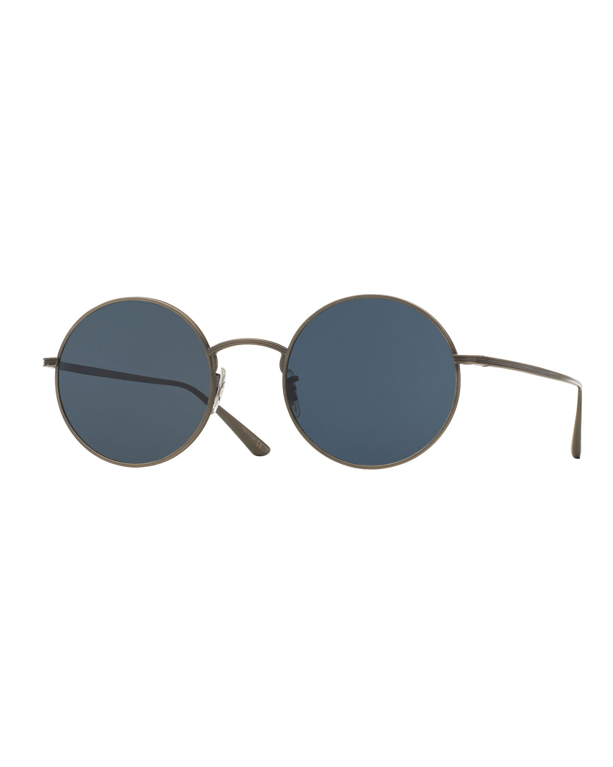 Oliver Peoples Sunglasses MEN'S AFTER MIDNIGHT ROUND METAL SUNGLASSES