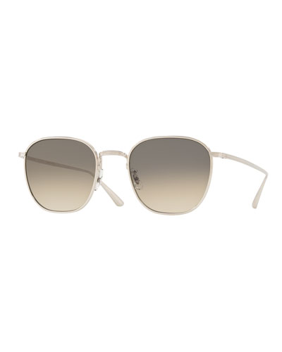 Men's Board Meeting Square Gradient Titanium Sunglasses
