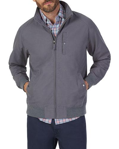 Men's Newport Zip-Front Lined Jacket