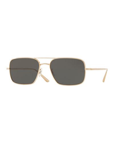 Men's Victory LA Titanium Rectangle Sunglasses - Polarized