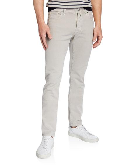 Jacob Cohen Men's Cotton-Stretch Straight-Leg Pants