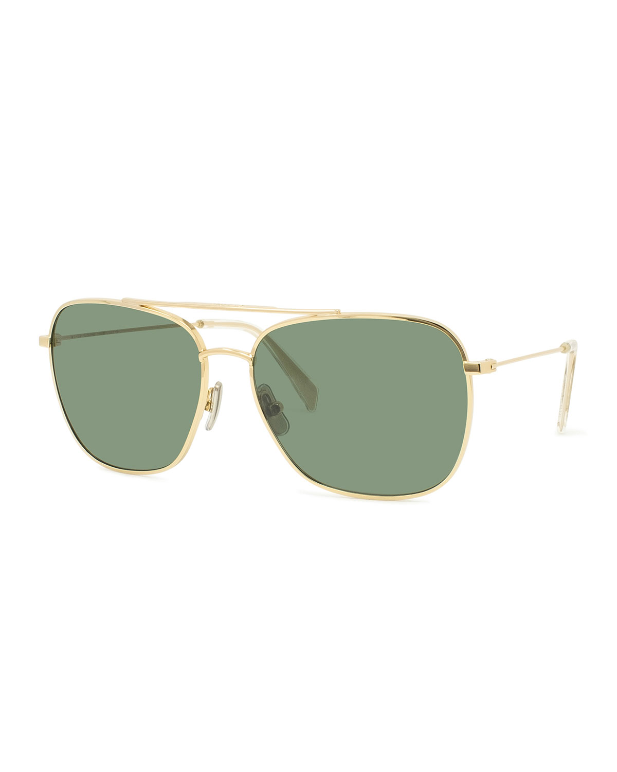 Celine Sunglasses MEN'S METAL AVIATOR SUNGLASSES, GOLD
