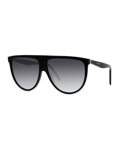 Men's Flattop Gradient Shield Sunglasses