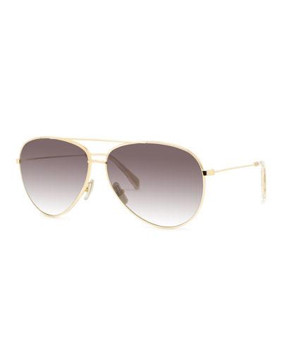 Men's Aviator Gradient Polarized Sunglasses