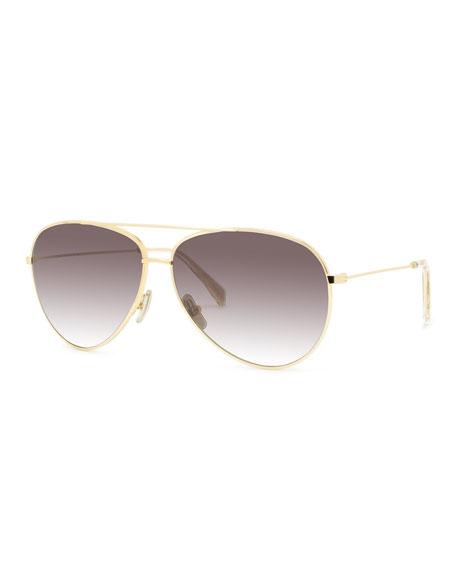 Celine Men's Aviator Gradient Sunglasses