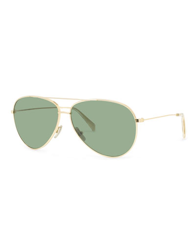 418128656d4f0 Quick Look. Celine · Men s Golden Aviator Sunglasses