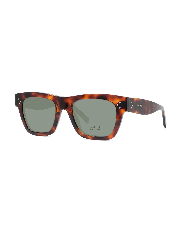 Celine Sunglasses MEN'S TORTOISESHELL ACETATE SUNGLASSES