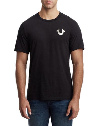 Men's Logo Wolf Graphic Cotton T-Shirt