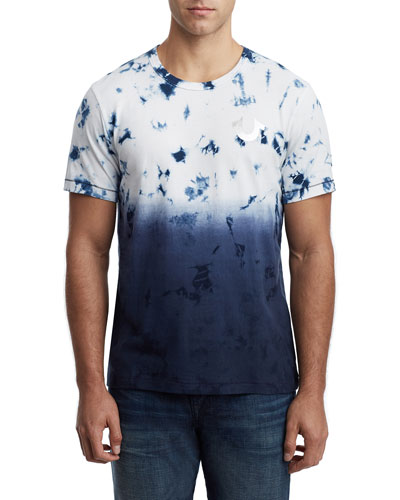 Men's Crystal Wash Ombre Short-Sleeve Cotton Tee