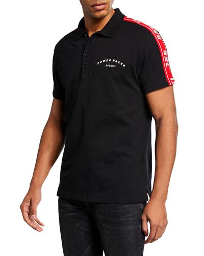 Men's Gorou Logo-Trim Polo Shirt