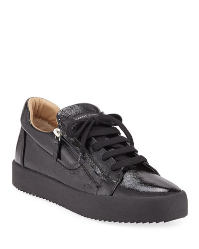 7bda08e976f05 Quick Look. Giuseppe Zanotti · Men's Updated Double-Zip Patent Sneakers.  Available in Black