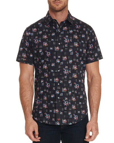 Men's Castle Den Short-Sleeve Sport Shirt