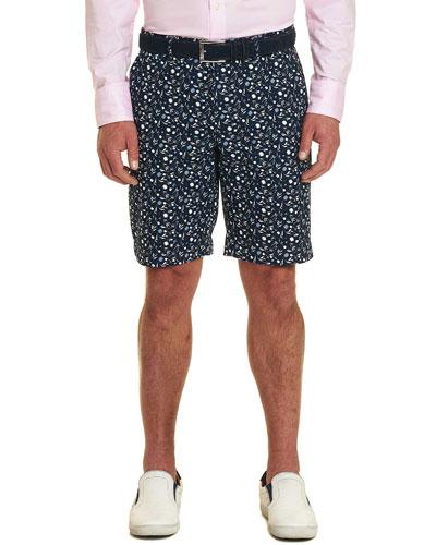 Men's Gunnar Floral-Print Twill Shorts