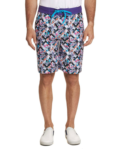 Robert Graham Men's Marshlands Graphic Swim Trunks