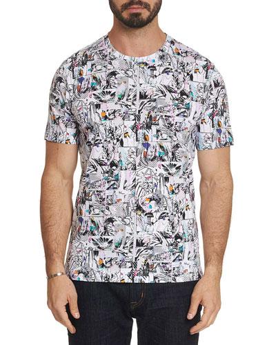 Men's Barlos Graphic-Print T-Shirt