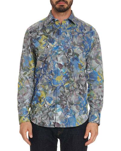 Men's Oasis Floral-Print Sport Shirt